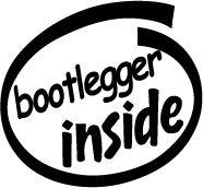Bootlegger Inside Decal Sticker