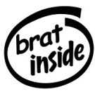 Brat Inside Decal Sticker