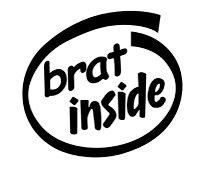 Brat Inside Decal Sticker