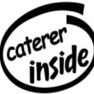 Caterer Inside Decal Sticker