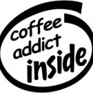Coffee Addict Inside Decal Sticker