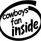 Cowboys Fan Inside Decal Sticker dallas