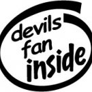 Devils Fan Inside Decal Sticker new jersey nj