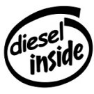 Diesel Inside Decal Sticker