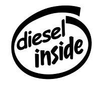 Diesel Inside Decal Sticker