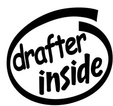 Drafter Inside Decal Sticker