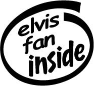 Elvis Fan Inside Decal Sticker presley