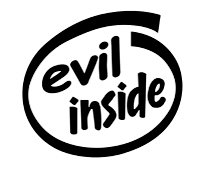 Evil Inside Decal Sticker