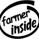 Farmer Inside Decal Sticker