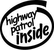 Highway Patrol Inside Decal Sticker