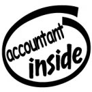 Accountant Inside Decal Sticker