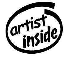 Artist Inside Decal Sticker