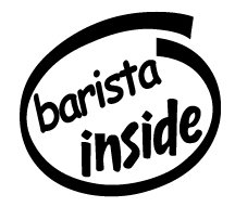 Barista Inside Decal Sticker