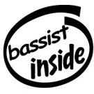 Bassist Inside Decal Sticker
