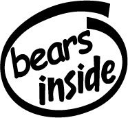 Bears Inside Decal Sticker