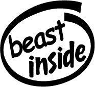 Beast Inside Decal Sticker
