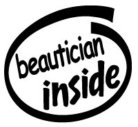 Beautician Inside Decal Sticker