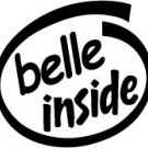 Belle Inside Decal Sticker