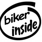 Biker Inside Decal Sticker
