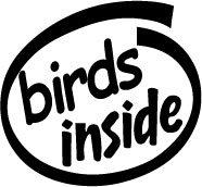 Birds Inside Decal Sticker