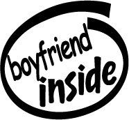 Boyfriend Inside Decal Sticker