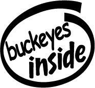 Buckeyes Inside Decal Sticker