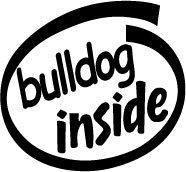 Bulldog Inside Decal Sticker