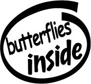 Butterflies Inside Decal Sticker