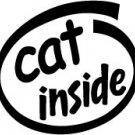 Cat Inside Decal Sticker