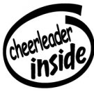 Cheerleader Inside Decal Sticker