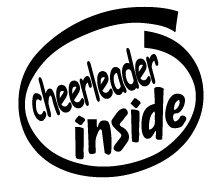 Cheerleader Inside Decal Sticker