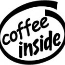 Coffee Inside Decal Sticker