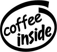 Coffee Inside Decal Sticker