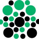 Set of 26 - BLACK / GREEN CIRCLES Vinyl Wall Graphic Decals Stickers shapes polka dots round