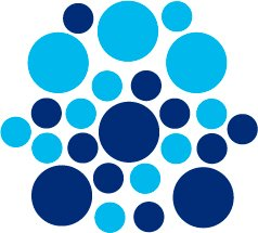 Set of 26 - BLUE / ICE BLUE CIRCLES Vinyl Wall Graphic Decals Stickers shapes polka dots round