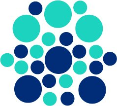 Set of 26 - BLUE / MINT CIRCLES Vinyl Wall Graphic Decals Stickers shapes polka dots round