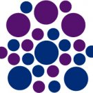 Set of 26 - BLUE / PURPLE CIRCLES Vinyl Wall Graphic Decals Stickers shapes polka dots round