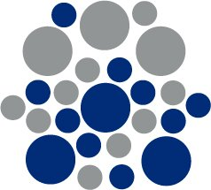 Set of 26 - BLUE / SILVER METALLIC CIRCLES Vinyl Wall Graphic Decals Stickers shapes polka dots