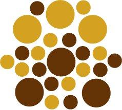 Set of 26 - BROWN / GOLD METALLIC CIRCLES Vinyl Wall Graphic Decals Stickers shapes polka dots