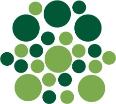 Set of 26 - LIME / DARK GREEN CIRCLES Vinyl Wall Graphic Decals Stickers shapes polka dots