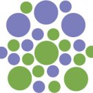 Set of 26 - LIME / LAVENDER CIRCLES Vinyl Wall Graphic Decals Stickers shapes polka dots