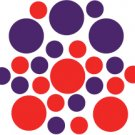 Set of 26 - RED / PURPLE CIRCLES Vinyl Wall Graphic Decals Stickers shapes polka dots