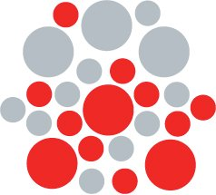 Set of 26 - RED / SILVER METALLIC CIRCLES Vinyl Wall Graphic Decals Stickers shapes polka dots
