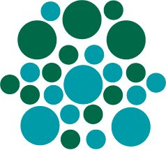 Set of 26 - TURQUOISE / DARK GREEN CIRCLES Vinyl Wall Graphic Decals Stickers shapes polka dots