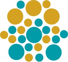 Set of 26 - TURQUOISE / GOLD METALLIC CIRCLES Vinyl Wall Graphic Decals Stickers shapes polka dots