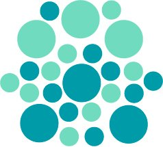 Set of 26 - TURQUOISE / MINT CIRCLES Vinyl Wall Graphic Decals Stickers shapes polka dots