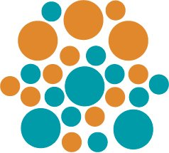Set of 26 - TURQUOISE / NUT BROWN CIRCLES Vinyl Wall Graphic Decals Stickers shapes polka dots