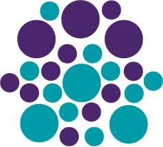 Set of 26 - TURQUOISE / PURPLE CIRCLES Vinyl Wall Graphic Decals Stickers shapes polka dots