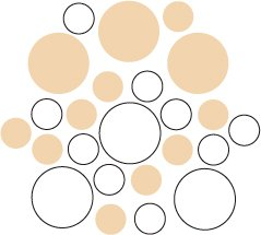 Set of 26 - WHITE / BEIGE CIRCLES Vinyl Wall Graphic Decals Stickers shapes polka dots