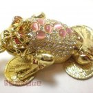 NEW Three legged toad Frog Rhinestone Trinket Jewelry jewel Box